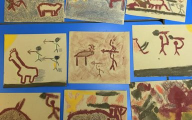 Be amazed by Y4's Stone age cave paintings!